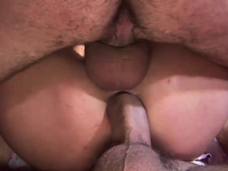 Intense gangbang action featuring a kinky blonde