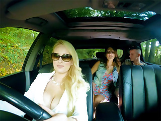 Mature stepmom gives teen couple some sex pointers