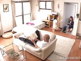 Japanese AV Model is a hot milf in her office suit