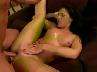 Brunette MILF Takes Cock In Asshole