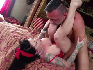 Big bouncy tits milf Darling is very turn on to the guest Keiran