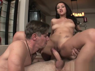 Vicky pushes her husband to blow a penis