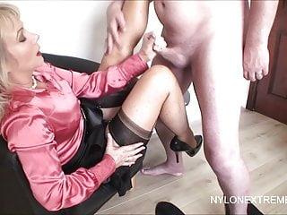 Splasing Cum On Stocking Tops