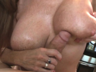 Alluring milf titfucked and creamed in pov