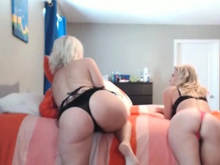 Two Blonde Milf Fucks One Another
